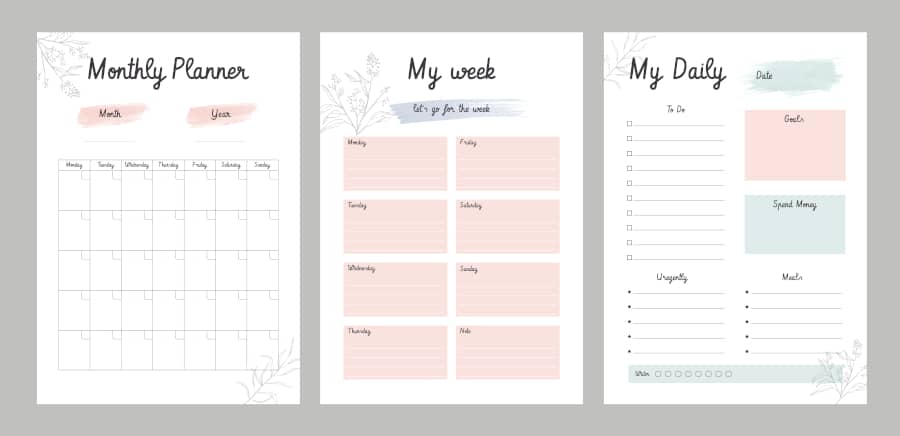 weekly or monthly planners offer value and also allow the business to introduce its service to potencial leads