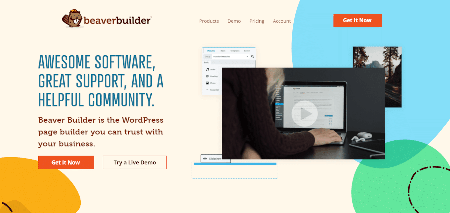 landing page of beaver builder is the wordpress page builder you can trust with your business