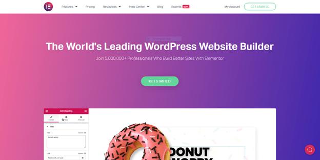 Elementor World's Leading WordPress Website Builder Landing Page