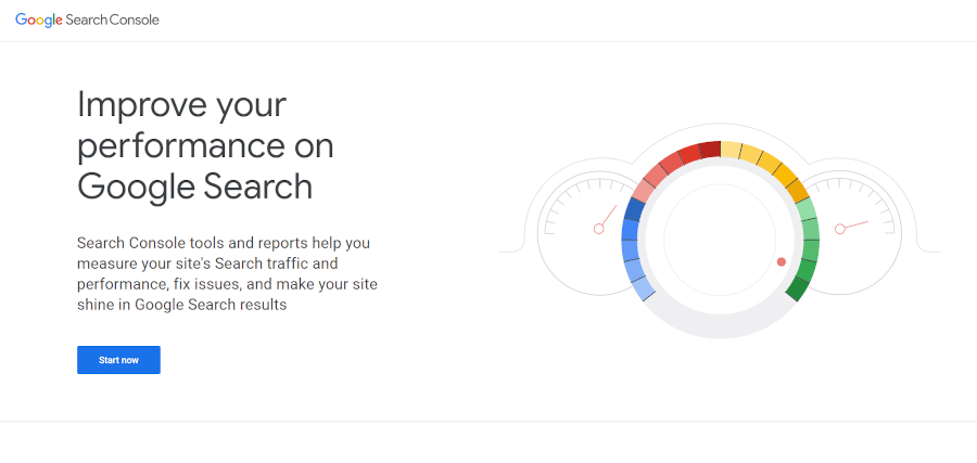 landing page of Google Search Console that helps you improve your SEO