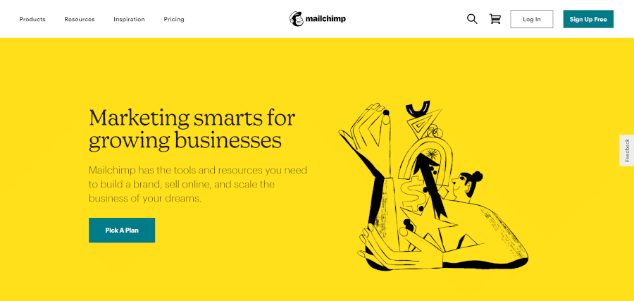 landing page of mailchimp for email marketing for your growing business