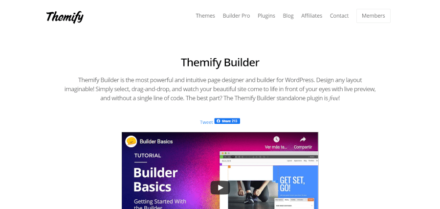 landing page of brizy easiest wordpress next-gen website builder that anyone can use