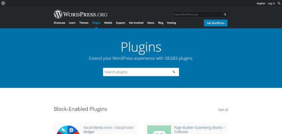 wordpress offers over 55000 free and paid plugins