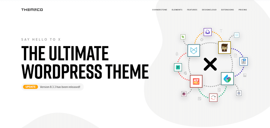 landing page of x theme the ultimate wordpress theme make page building fun again