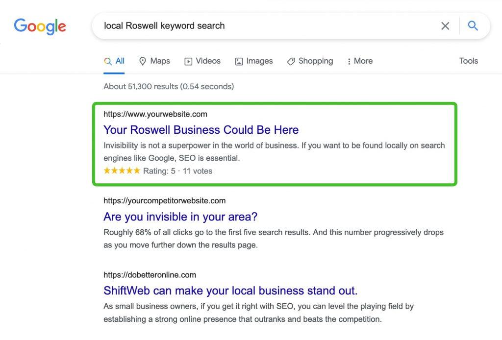 roswell SEO company